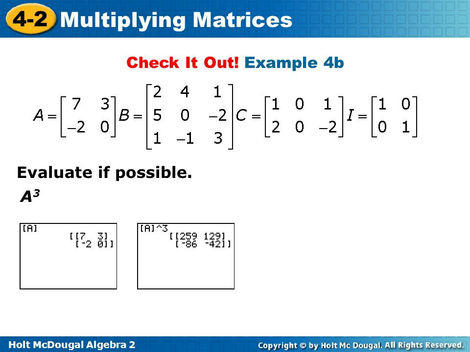 Check It Out! Example 4b Evaluate if possible. A3
