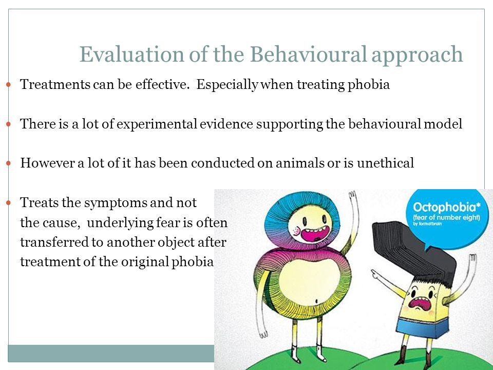 Evaluation of the Behavioural approach