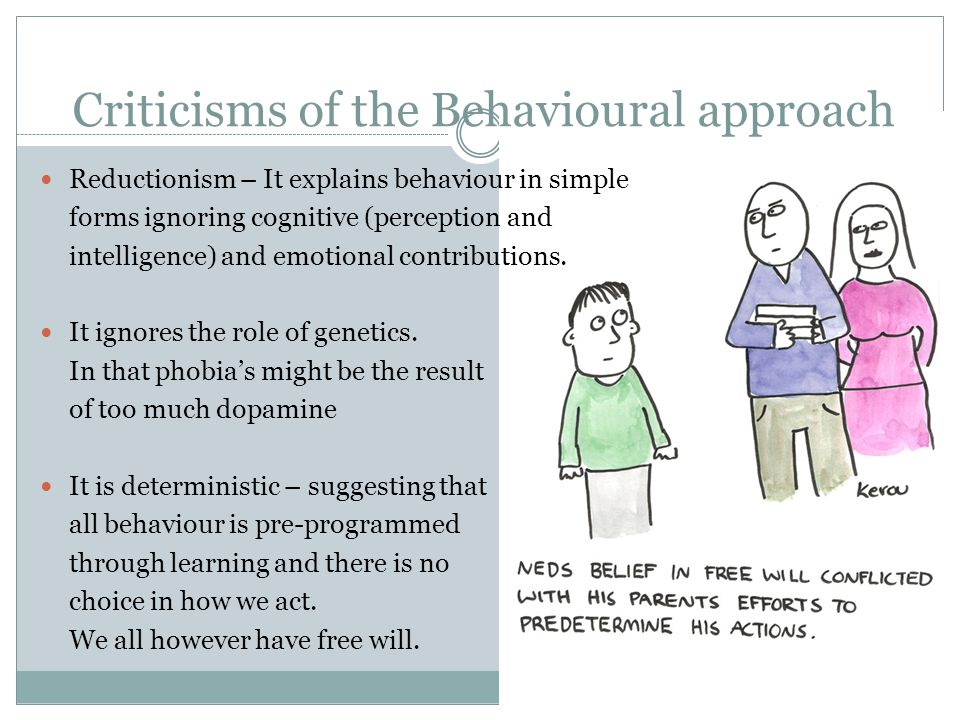 Criticisms of the Behavioural approach