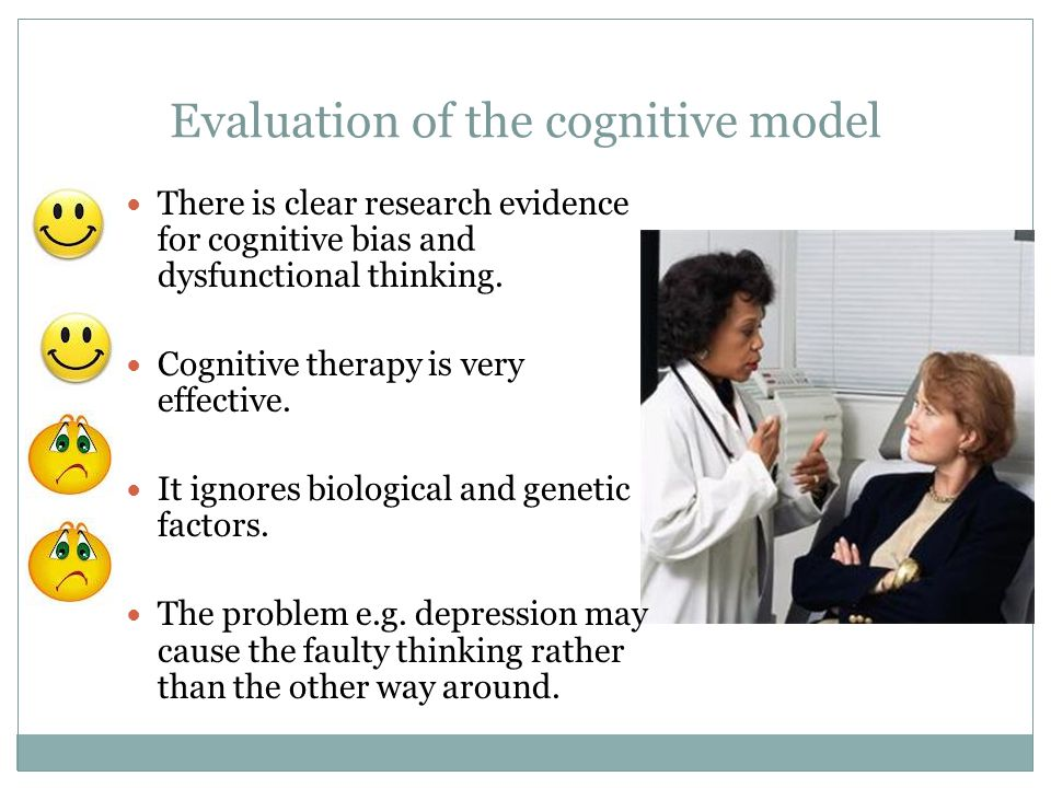 Evaluation of the cognitive model