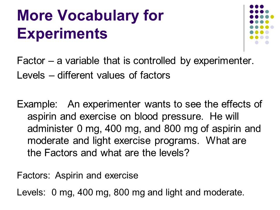 More Vocabulary for Experiments