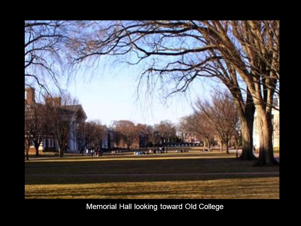 Memorial Hall looking toward Old College