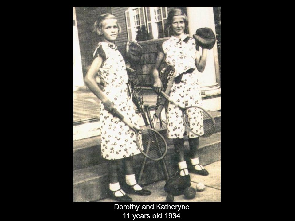 Dorothy and Katheryne 11 years old 1934