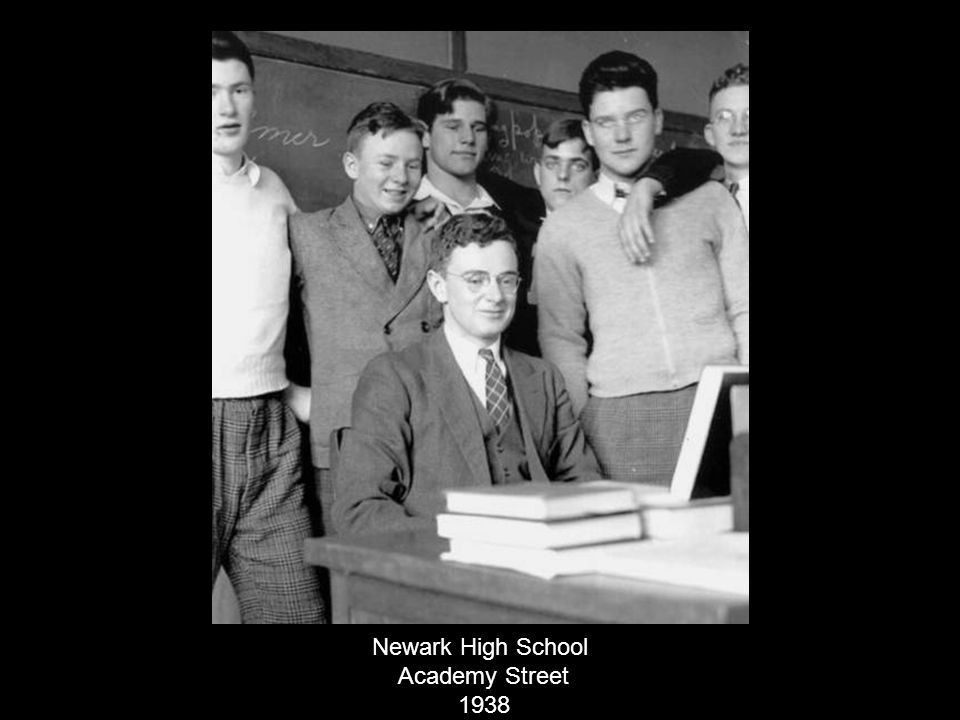 Newark High School Academy Street 1938