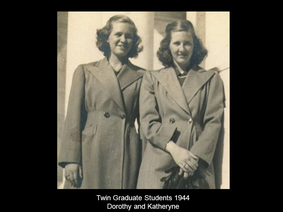 Twin Graduate Students 1944