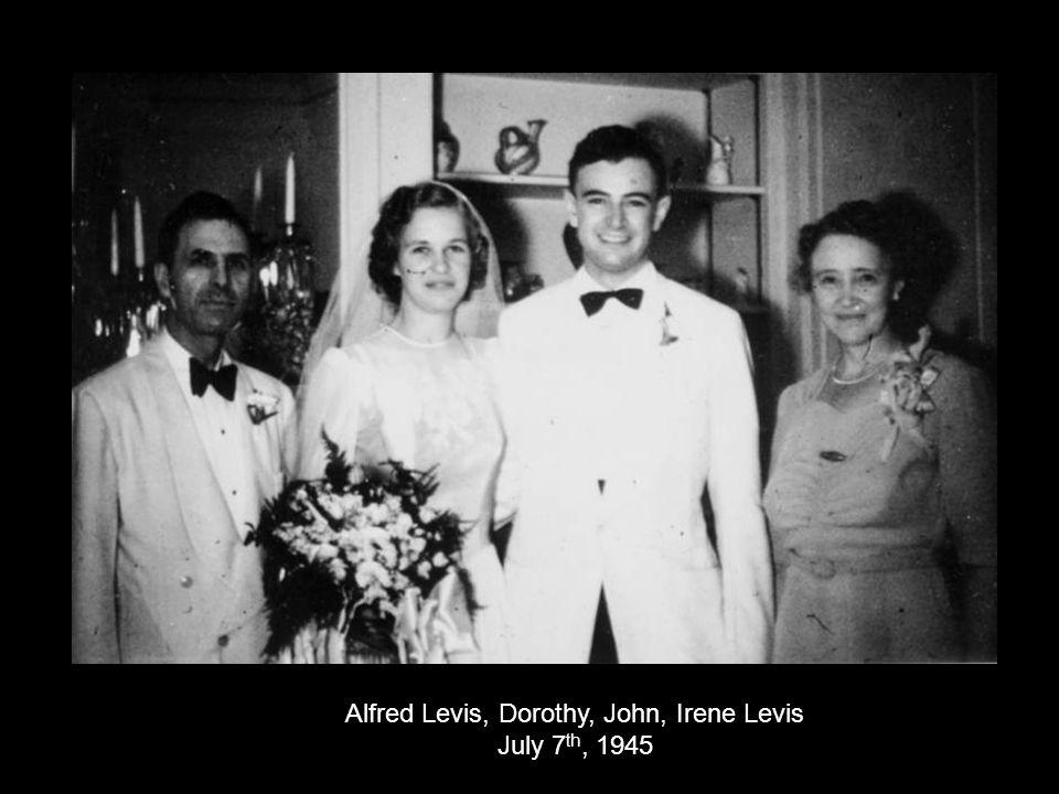 Alfred Levis, Dorothy, John, Irene Levis