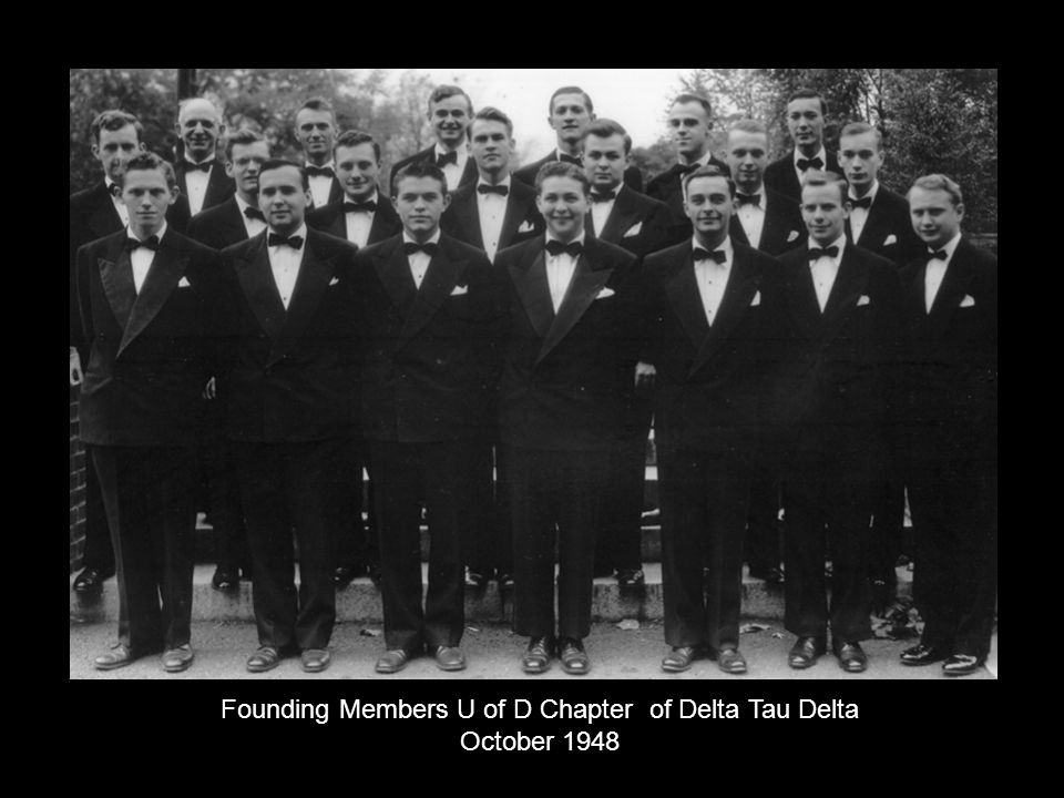 Founding Members U of D Chapter of Delta Tau Delta