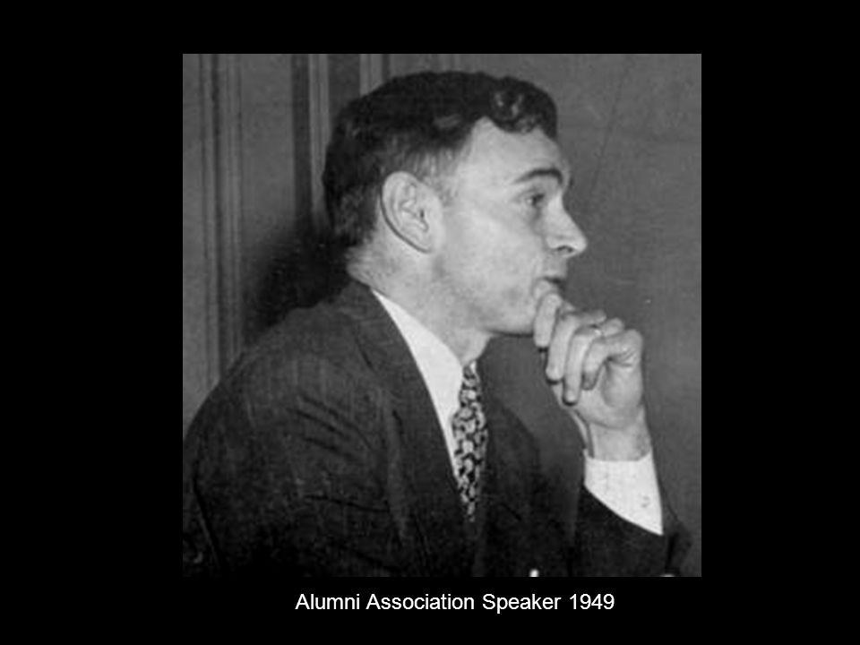 Alumni Association Speaker 1949
