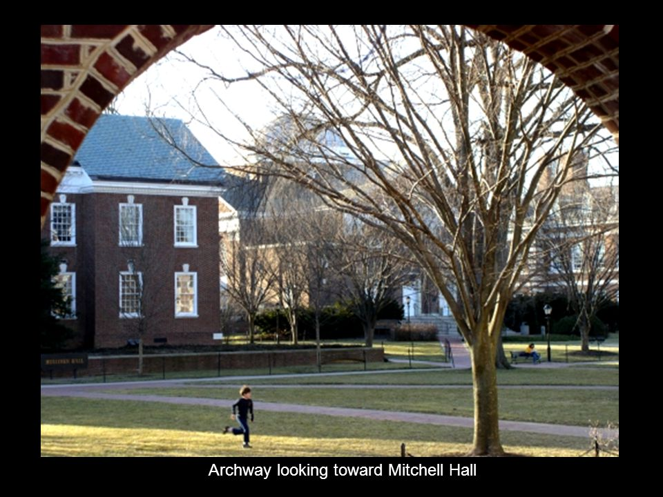 Archway looking toward Mitchell Hall
