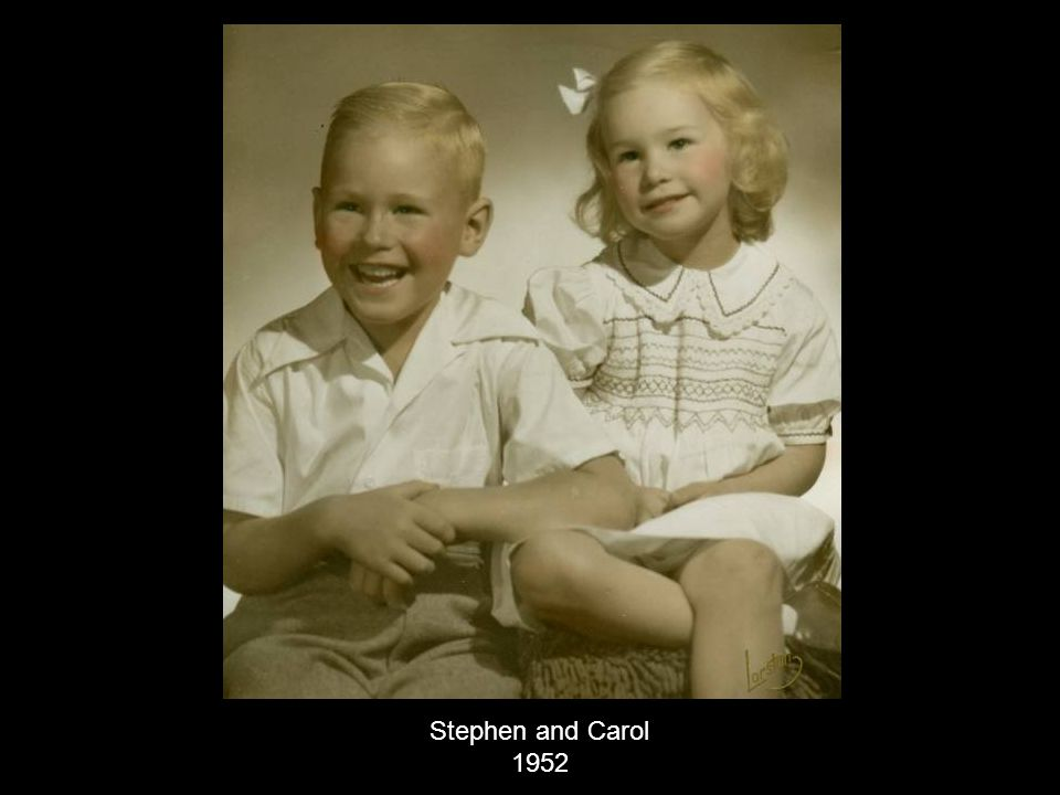 Stephen and Carol 1952