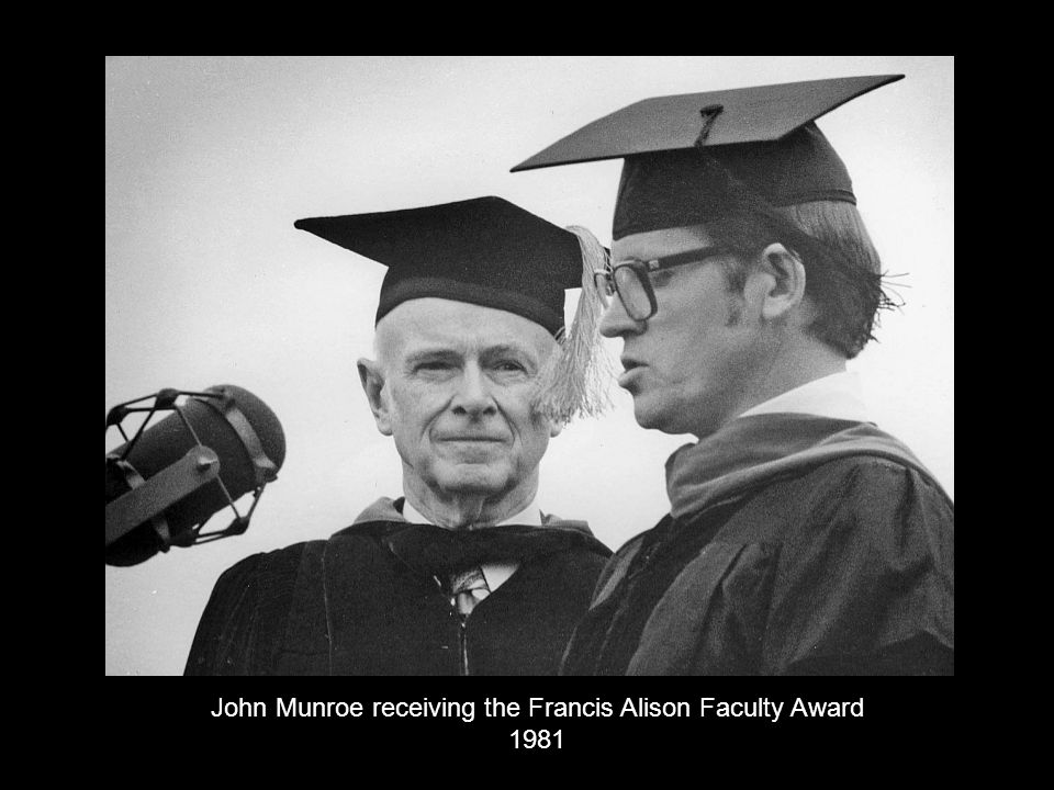 John Munroe receiving the Francis Alison Faculty Award