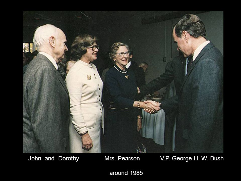 John and Dorothy Mrs. Pearson V.P. George H. W. Bush