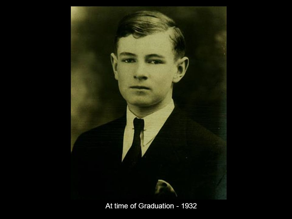 At time of Graduation - 1932