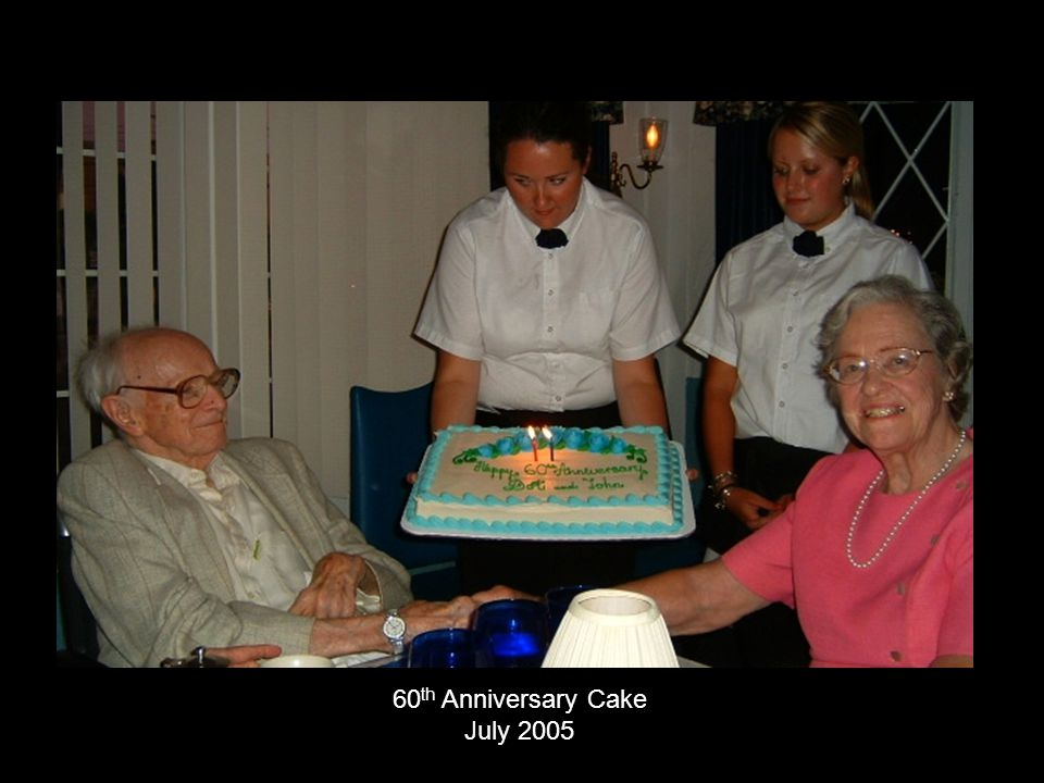 60th Anniversary Cake July 2005