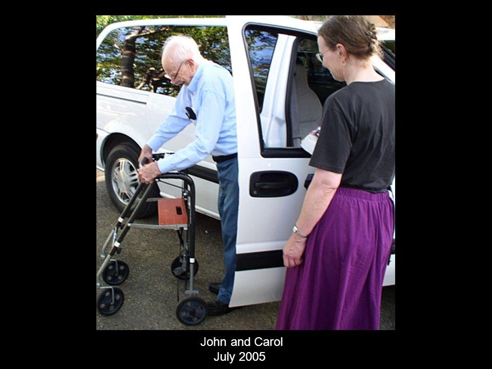 John and Carol July 2005