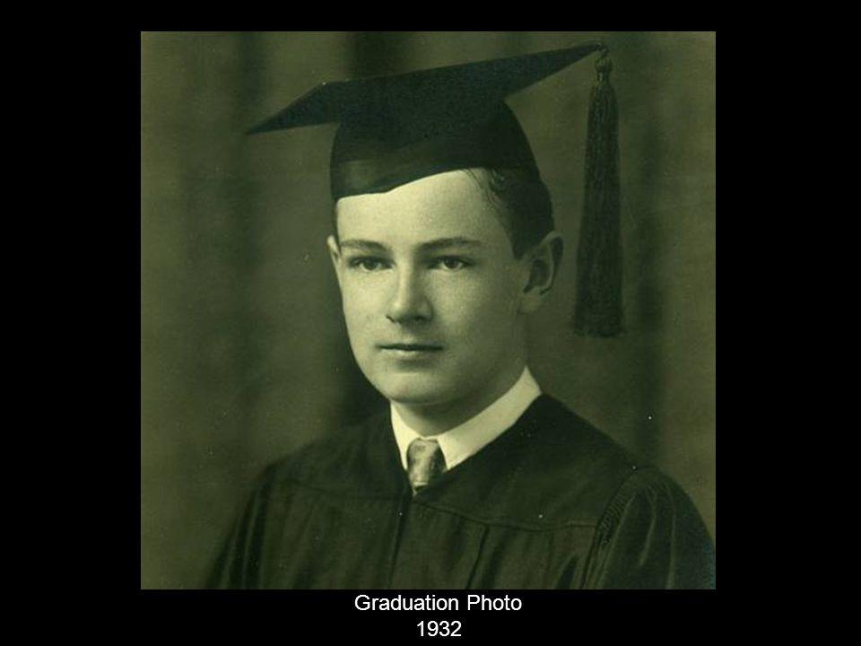 Graduation Photo 1932