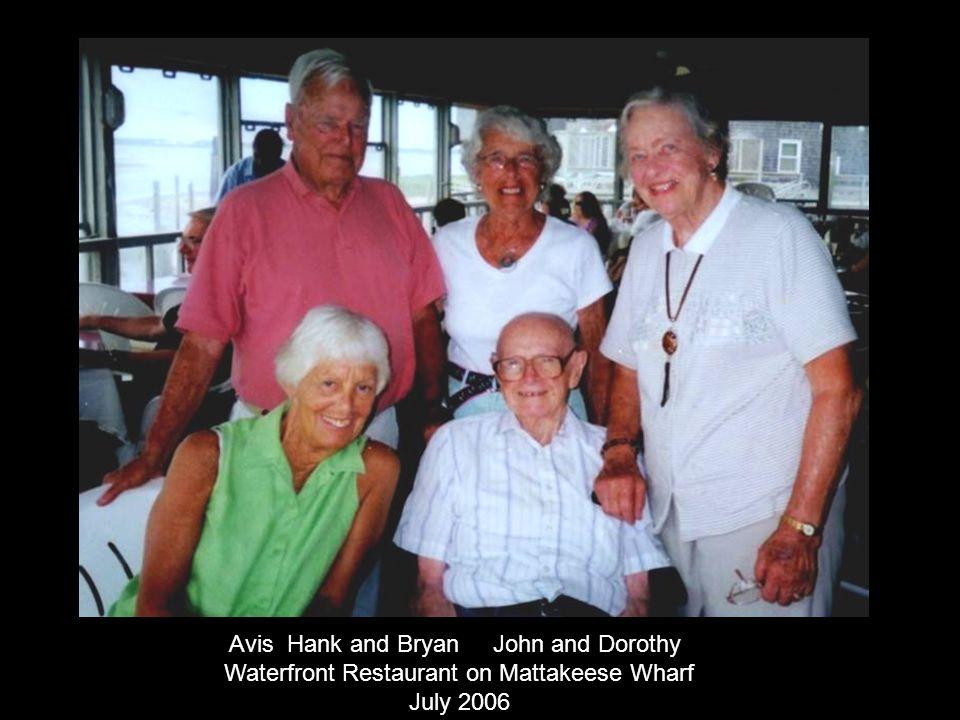 Avis Hank and Bryan John and Dorothy