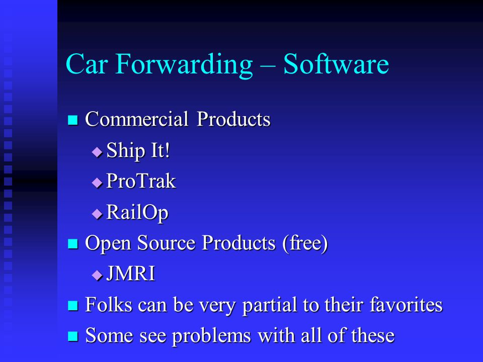 Car Forwarding – Software