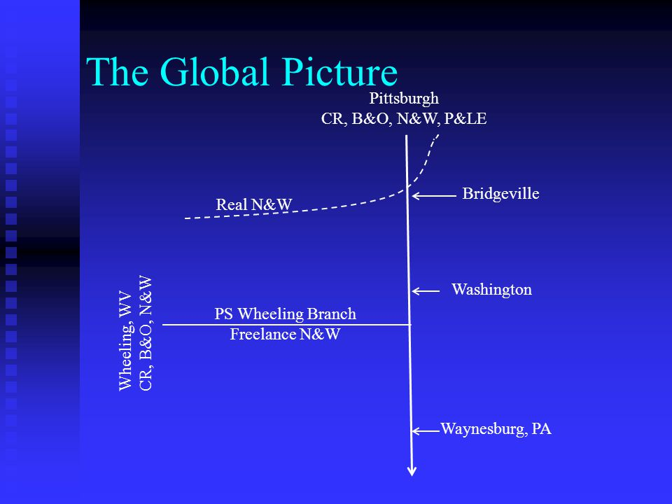 The Global Picture Pittsburgh CR, B&O, N&W, P&LE Bridgeville Real N&W