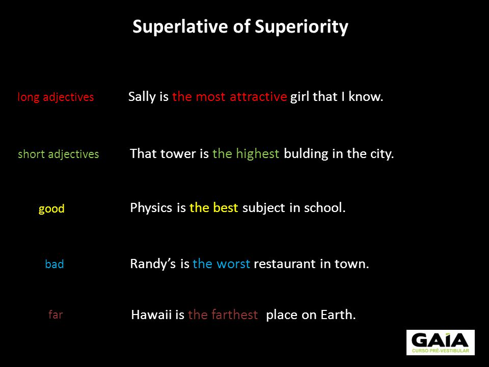 Superlative of Superiority