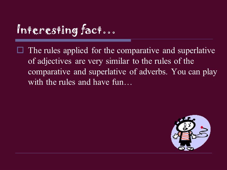 Interesting fact…