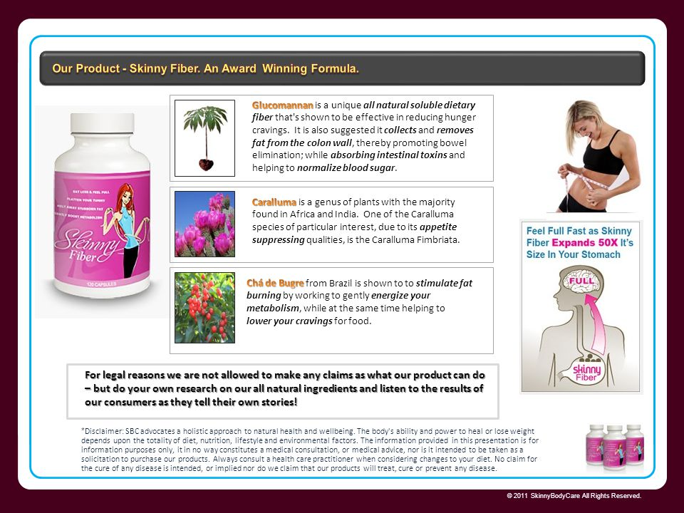 Our Product - Skinny Fiber. An Award Winning Formula.