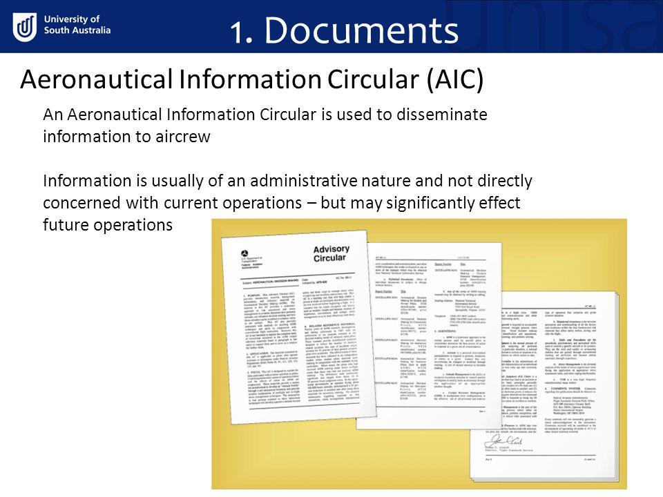 1. Documents Aeronautical Information Circular (AIC)