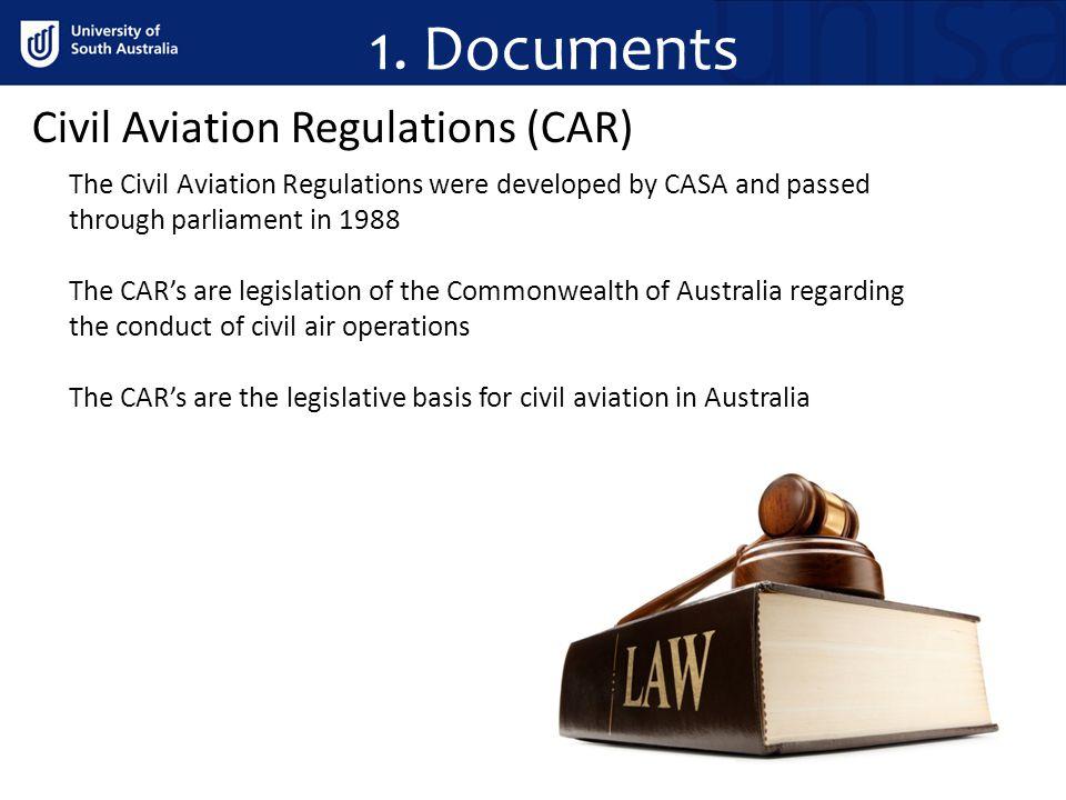 1. Documents Civil Aviation Regulations (CAR)