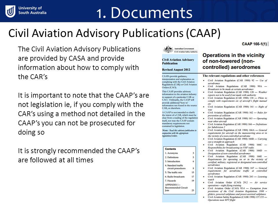 1. Documents Civil Aviation Advisory Publications (CAAP)