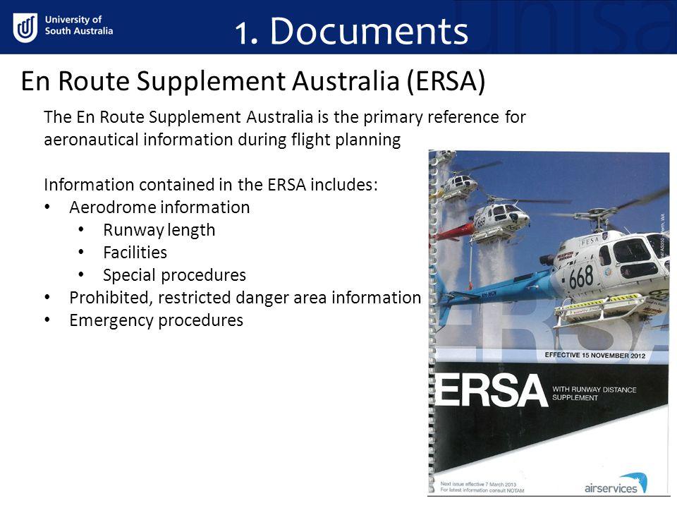 1. Documents En Route Supplement Australia (ERSA)
