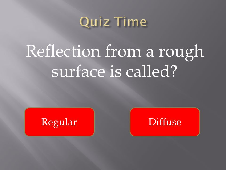 Reflection from a rough surface is called