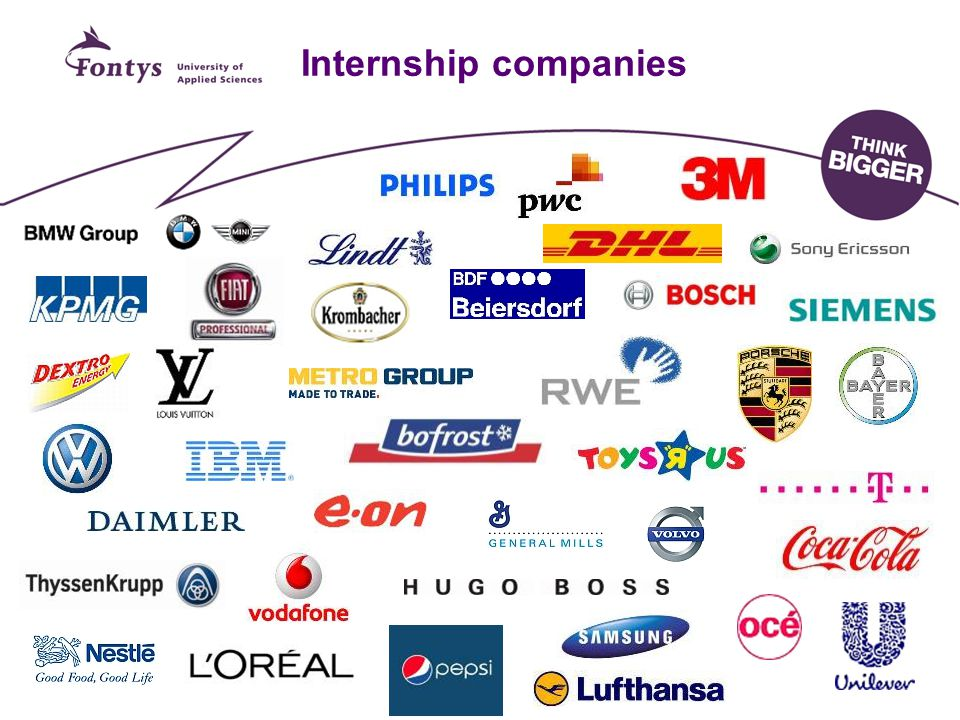 Internship companies