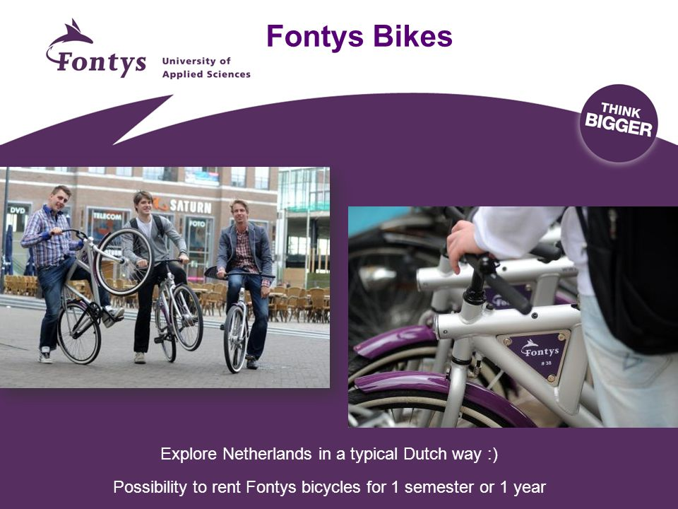 Fontys Bikes Explore Netherlands in a typical Dutch way :)