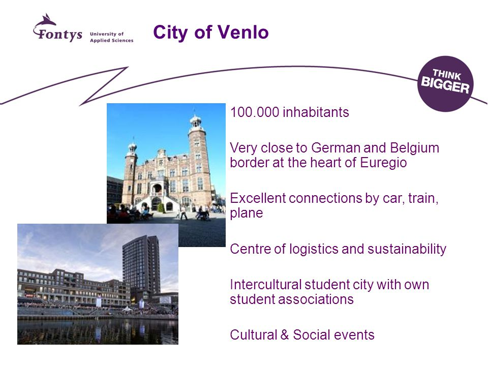 City of Venlo 100.000 inhabitants