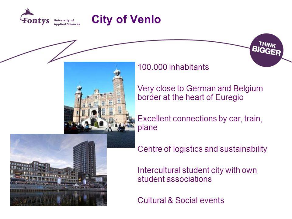 City of Venlo 100.000 inhabitants