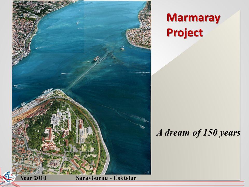 Marmaray Project A dream of 150 years Year 2010 Sarayburnu - Üsküdar