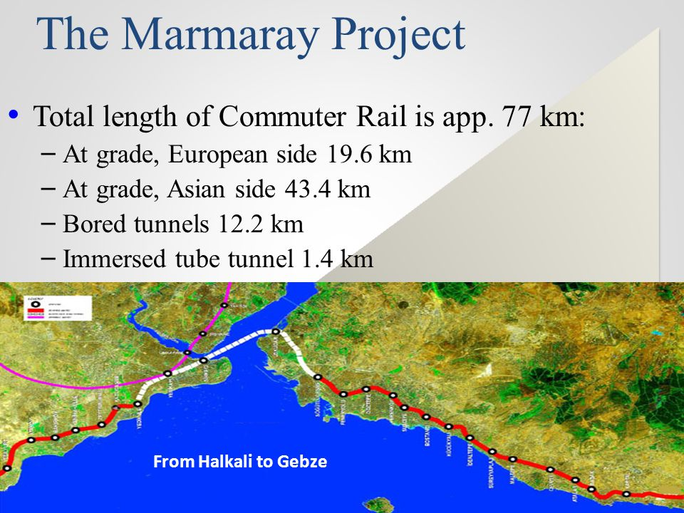The Marmaray Project Total length of Commuter Rail is app. 77 km: