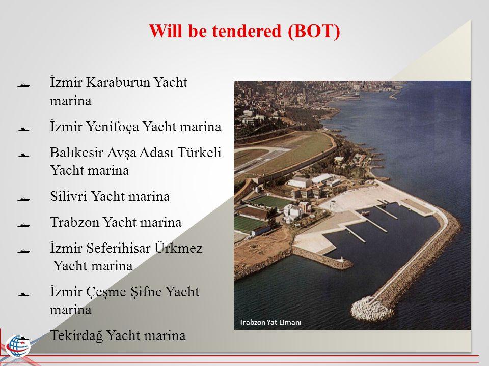 Will be tendered (BOT) İzmir Karaburun Yacht marina