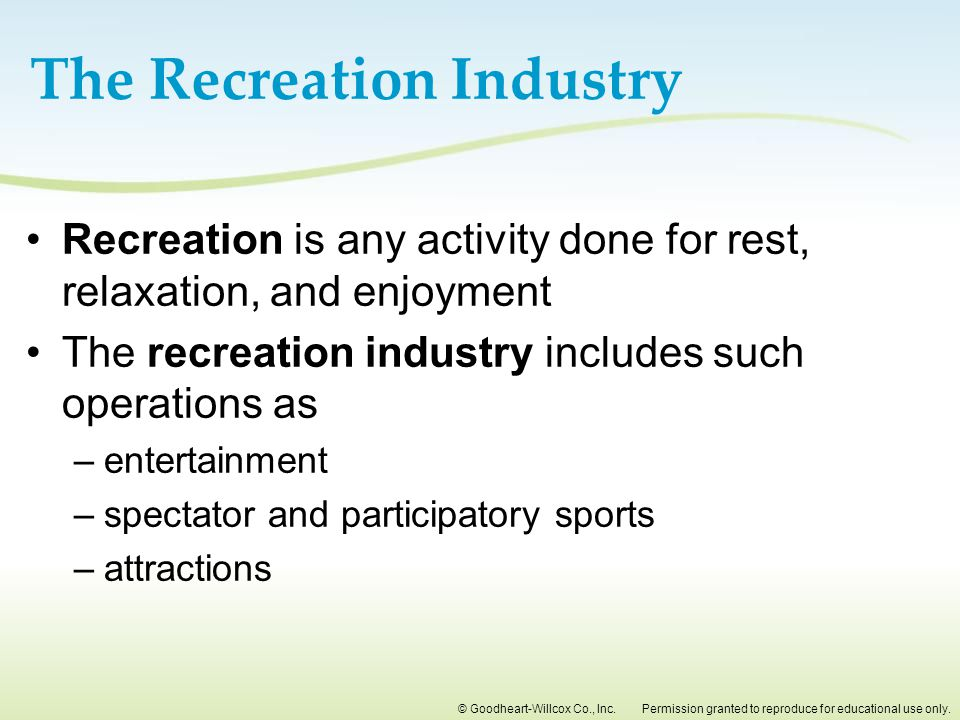 The Recreation Industry