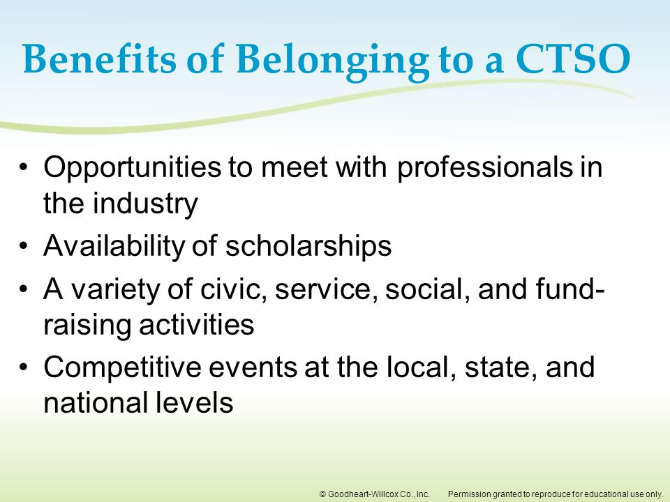 Benefits of Belonging to a CTSO