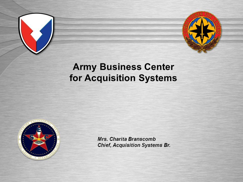 Army Business Center for Acquisition Systems