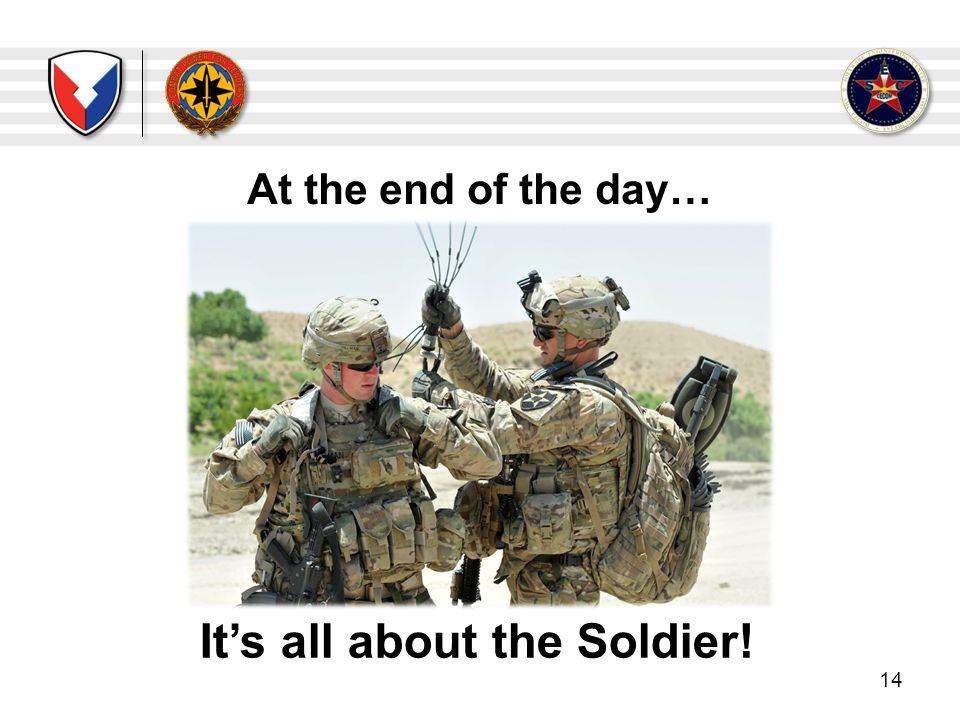 It's all about the Soldier!
