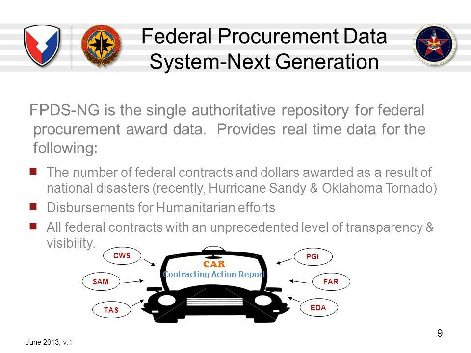 Federal Procurement Data System-Next Generation