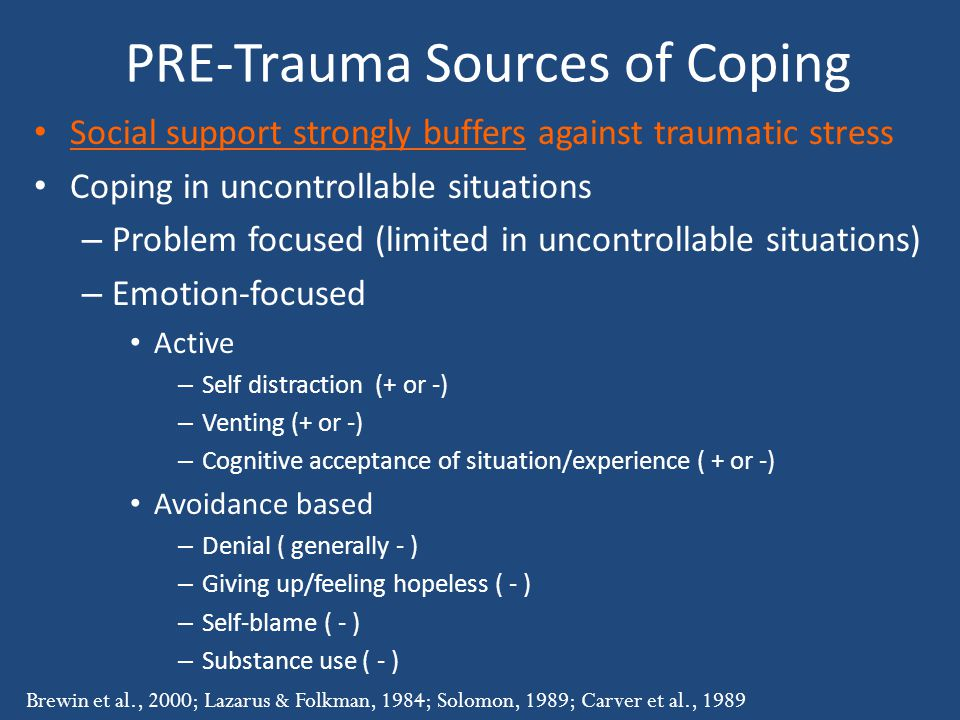 PRE-Trauma Sources of Coping