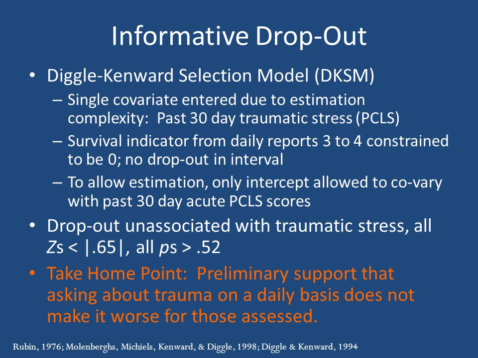 Informative Drop-Out Diggle-Kenward Selection Model (DKSM)