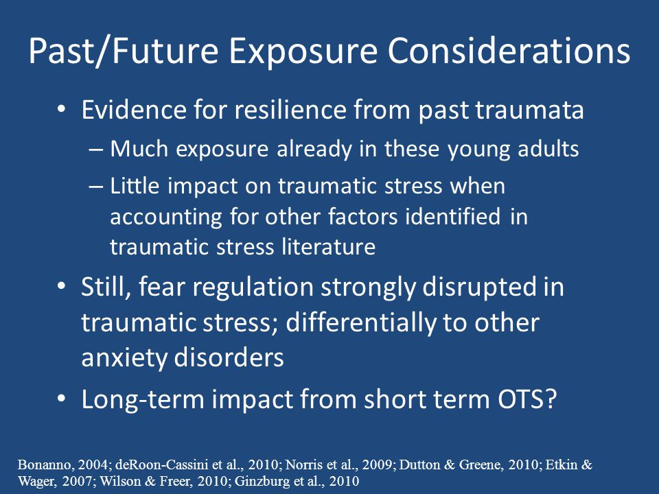 Past/Future Exposure Considerations