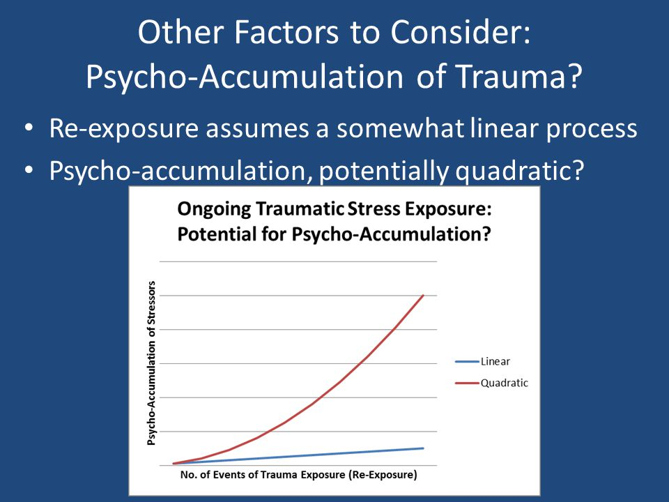 Other Factors to Consider: Psycho-Accumulation of Trauma