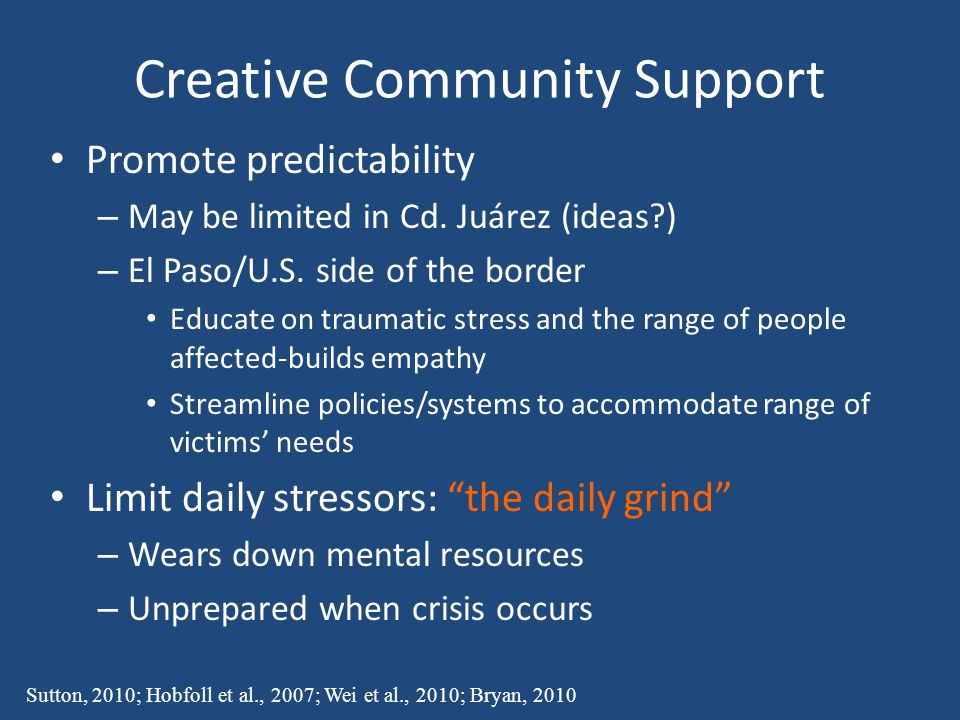 Creative Community Support