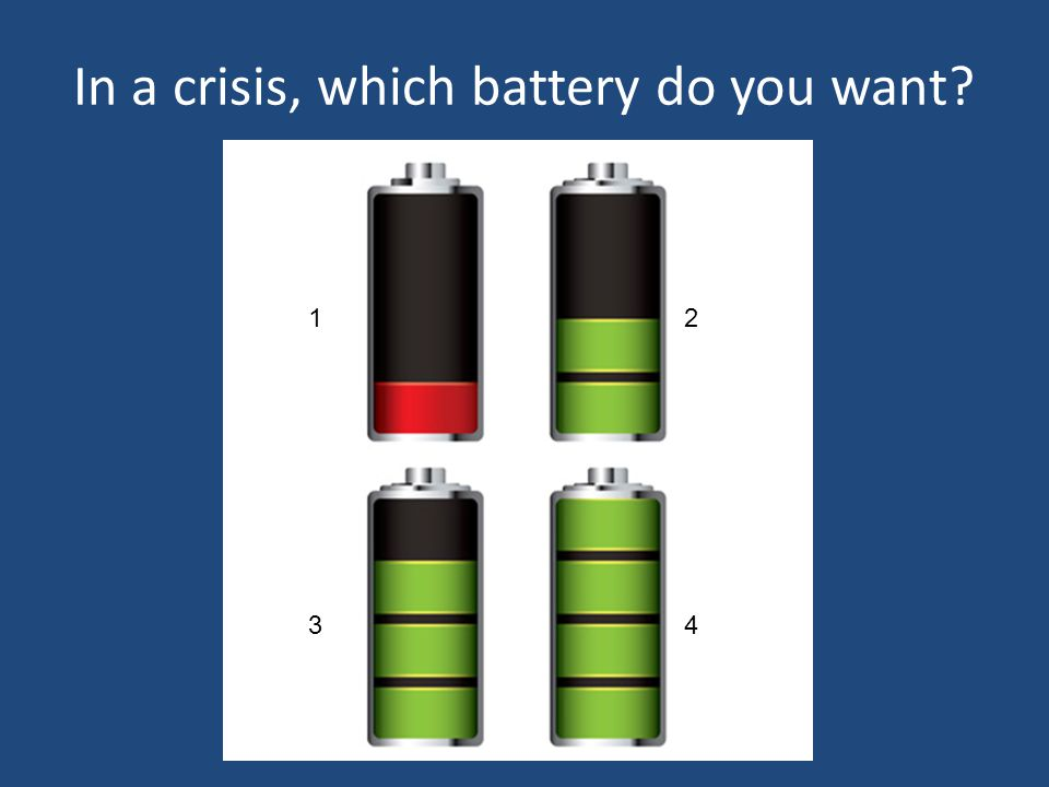 In a crisis, which battery do you want