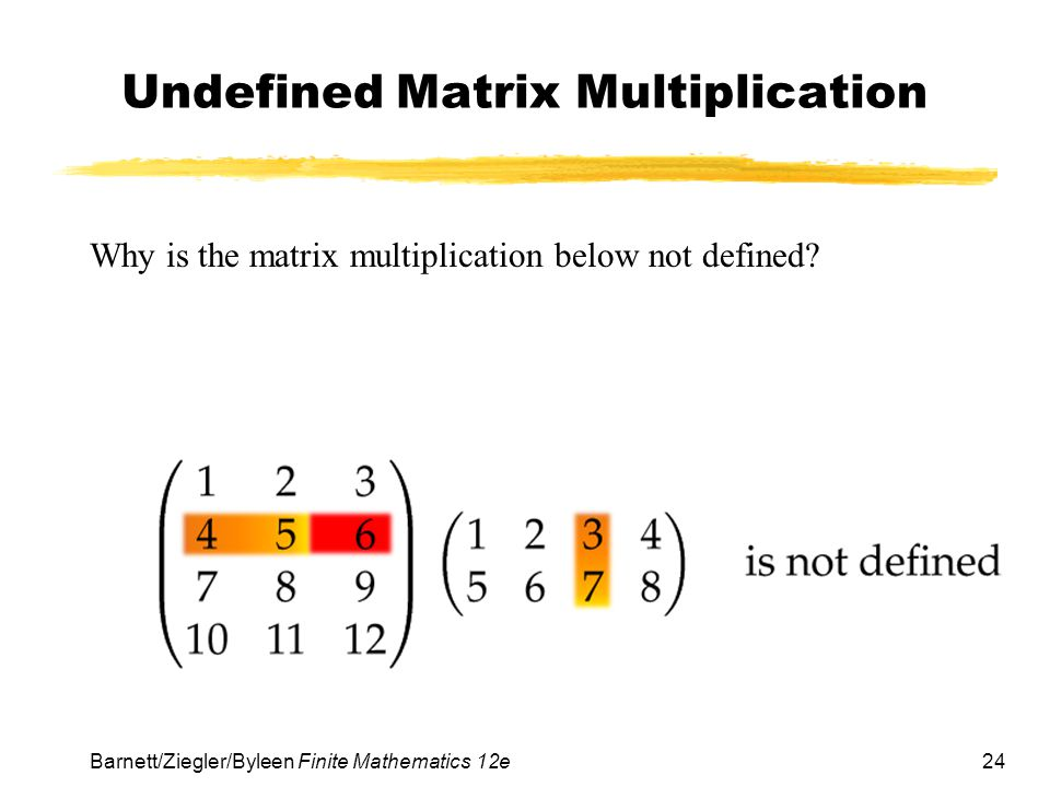 Undefined Matrix Multiplication